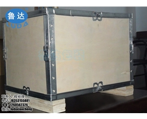免熏蒸可折叠万博最新版下载箱  钢边箱 无钉扣件箱